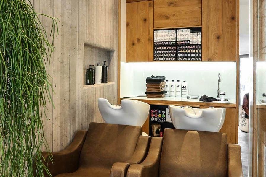 Salone da parrucchiere: postazione shampoo | AP STUDIO | Architetto Previato