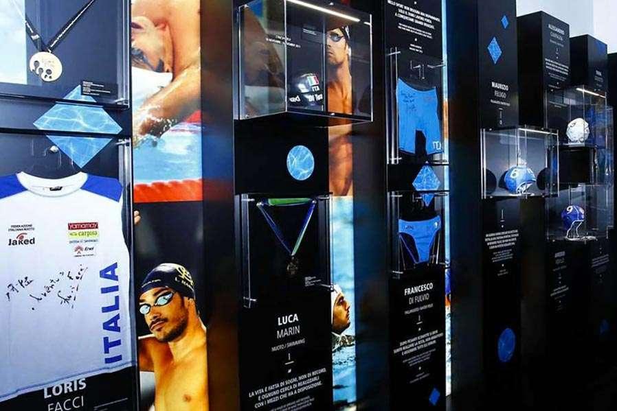 Parete nuotatori - Juventus Museum | Architetto Previato | AP Studio