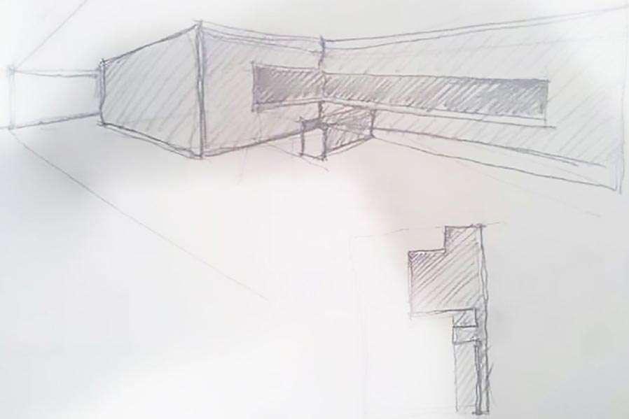 Bozzetto progetto di architettura d'interni | AP STUDIO | Architetto Previato